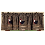 Rise And Shine Rooster Valance Oat