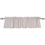 Ticking Valance Cream - Grey