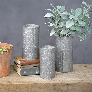 Tall Galvanized Tin Can Small