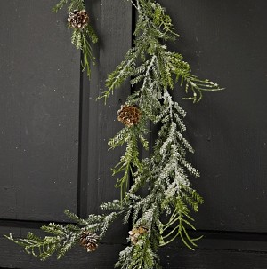 5ft Snowy Herb Pine Garland