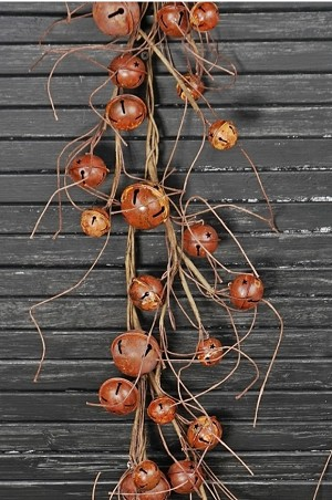 4ft Garland-Rusty Bells with twigs