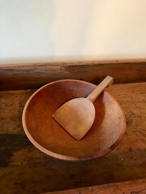 Old wooden bowl measures 11