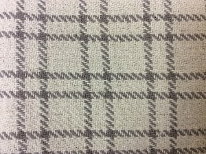COTTAGE CHECK GREY/CREAM SHORT TABLE RUNNER 14