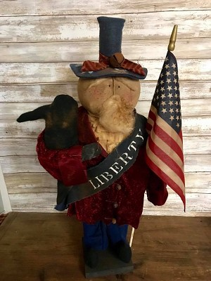 Handmade Uncle Sam Doll 26