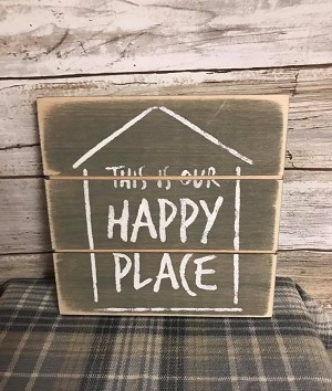 This Is Our Happy Place Handmade Farmhouse Style Sign 6