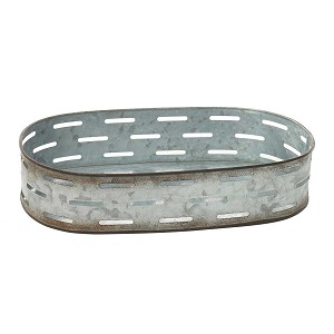 METAL OVAL TRAY PLANTER 13