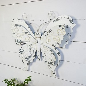 OLD WHITE BUTTERFLY WALL