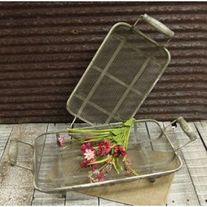 Rectangle Metal Trays (set of 2) 9