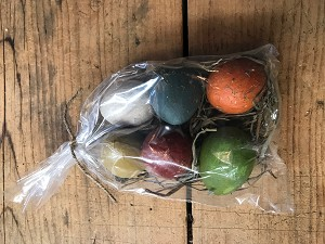 Handmade Set of 6 Painted Eggs