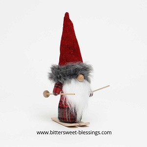KARL GNOME WITH BURGUNDY SWEATER HAT 11