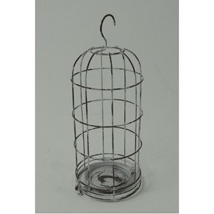 White Hanging Cage Candle Holder 12
