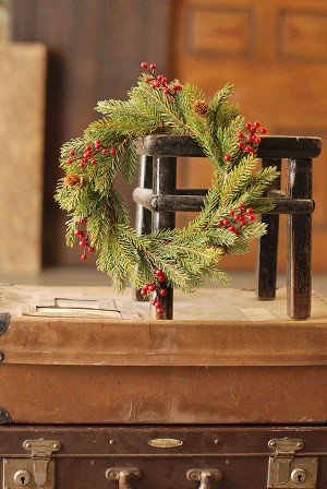 White Spruce w/ Berries Candle Ring | 11