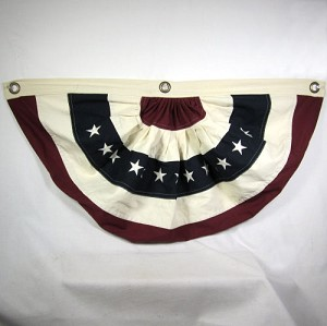 Burgundy & Navy & Cream Small Bunting