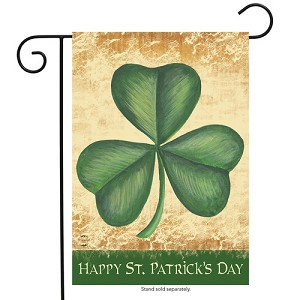 Happy St. Patrick's Day Shamrock Garden Flag