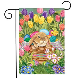 Spring Rabbit Garden Flag