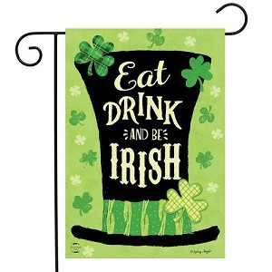 Eat Drink and Be Irish Garden Flag