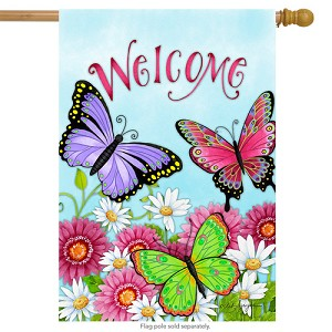 Welcome Butterfly House Flag