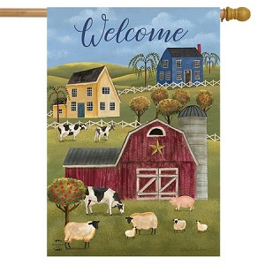 Spring Countryside Welcome House Flag