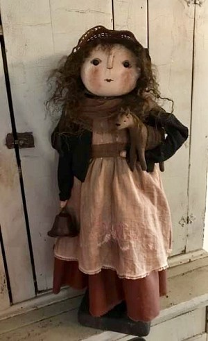 Handmade Doll Holding a Horse by Bearing In Love 24