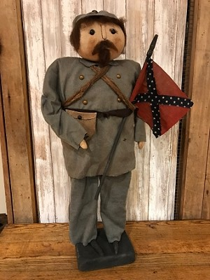 Handmade Doll by Bearing in Love Americana Confederate Soldier 27