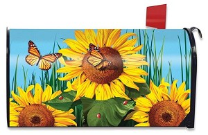 Sunflower Field Mailbox Cover