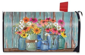 Farm Fresh Flowers Mailbox Cover