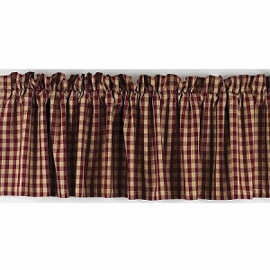 Heritage House Check Valance Barn Red