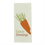 Easter Greetings Embroidered Applique Dishtowel