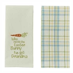 Who Needs The Easter Bunny 2 Dishtowel Set
