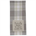 Weathered Oak Decorative Dishtowel Family