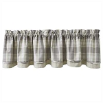 Weathered Oak Lined Layered Valance