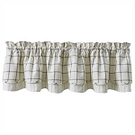 Mercantile Windowpane Lined Layered Valance