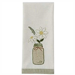 Mason Jar Applique Dishtowel