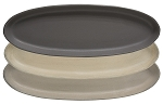 Large Oval Tray - Stoneware Colors, 3 asst.