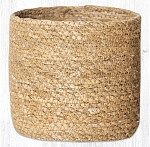 Natural Sedge Grass Braided Rug Basket Various Sizes