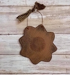 Handmade Sunflower Wood Ornament 5