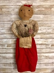 Handmade American Doll Hang or Sit with 1776 Bag 24