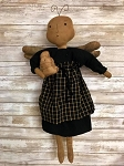 Handmade Bee Angel Doll with Bee Skep 24