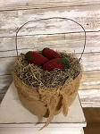Handmade Basket with 3 Strawberries 5