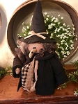 Handmade Witch Doll Holding A Crow 16