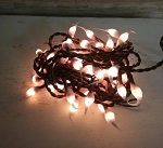 Candy Cane Hand Dipped Silicone Teeny Bulb Electric Light Strand