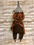Handmade Rugged Chic Pumpkin Man with Funnel Hat 27