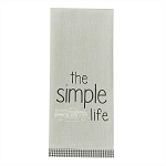 The Simple Life Embroidered Dishtowel