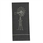 Windmill Embroidered Dishtowel