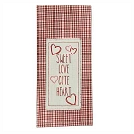 Sweet Love Embroidered Applique Dishtowel