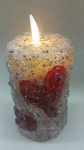Moving Flame Votive with Heart