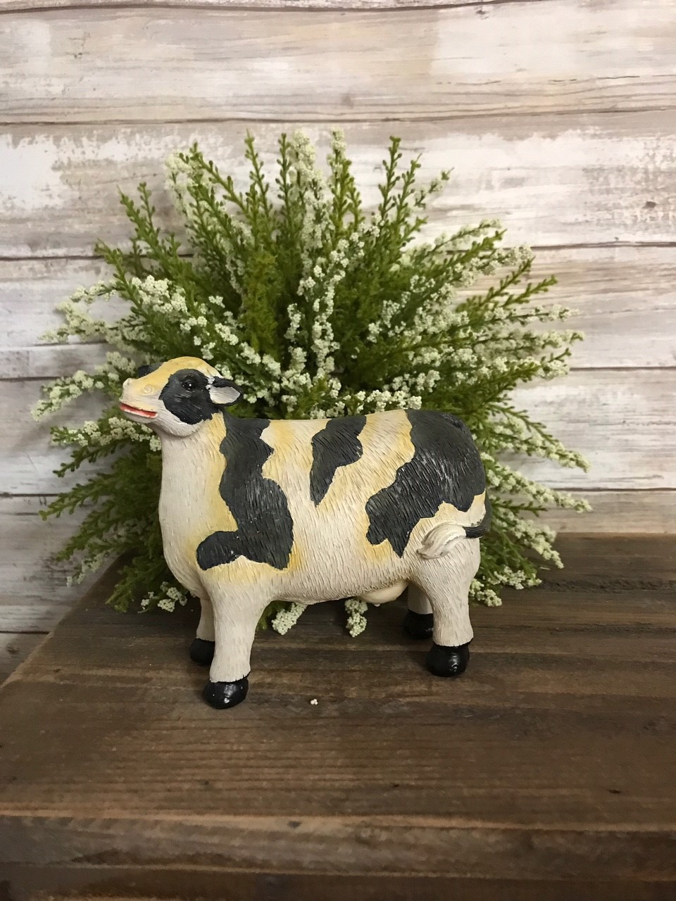 Large Black & White Cow Resin Figure 5.5