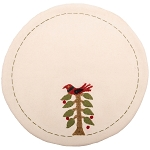Nesting Tree Candle Mat Cream