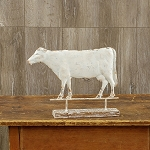 COW WEATHERVANE ON WOOD BASE