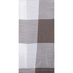 Buffalo Check Towel Cream - Pewter